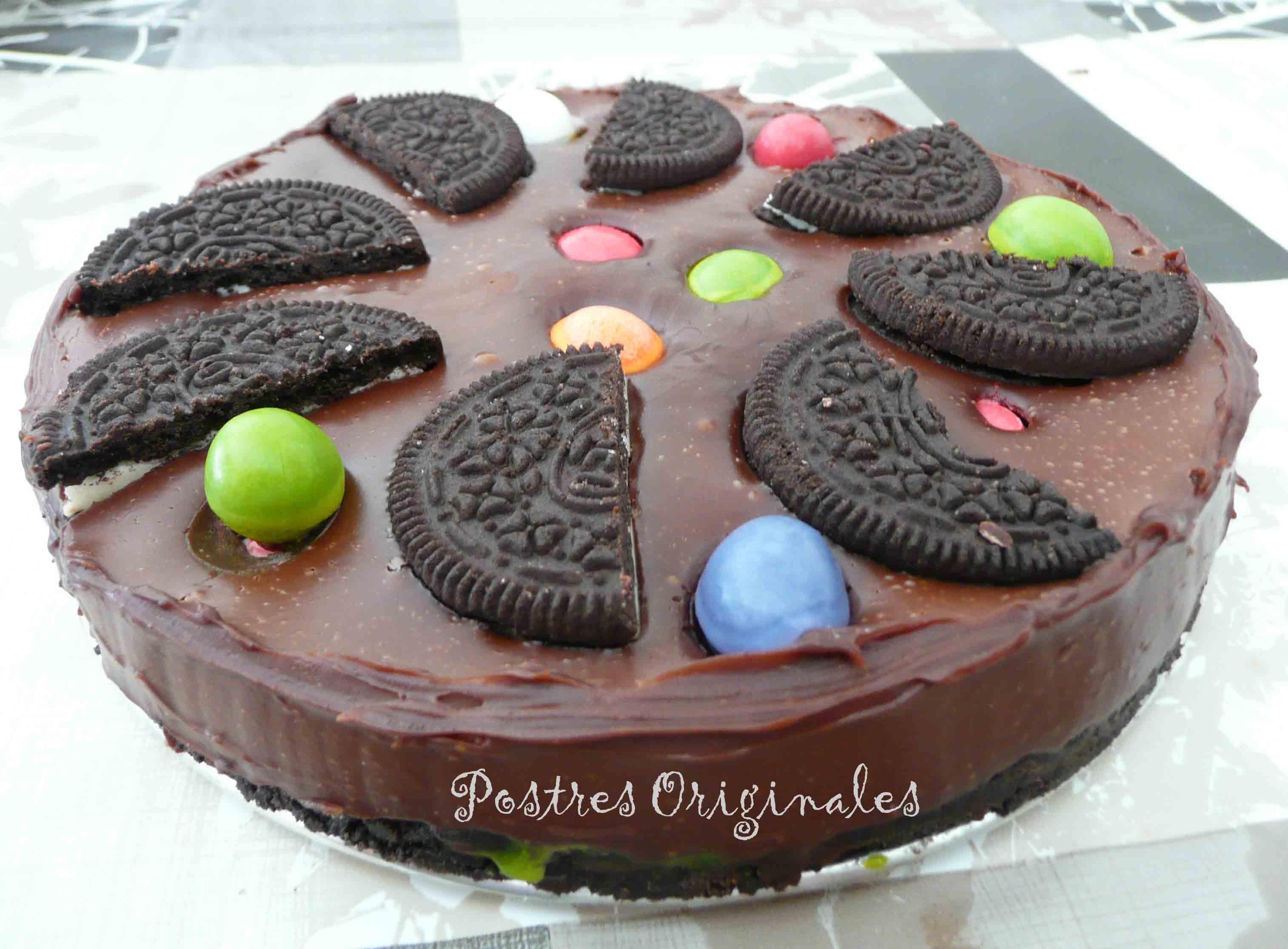 Tarta de chocolate con galletas oreo postres originales - Postres originales y faciles de hacer ...