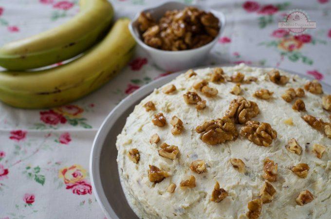 Pastel de Plátano y Nuez